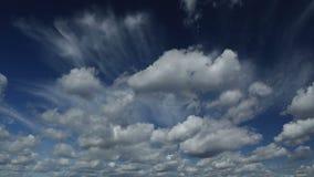 Czasu upływ spektakularne chmury zbiory wideo