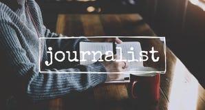 Czasu wolnego czasopisma dziennikarstwa pomysły one Wyrażają pojęcie obraz royalty free
