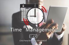 Czasu zarządzania organizatora planu przypomnienia pojęcie Obraz Stock