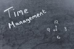 Czasu zarządzania pojęcie z ręcznie pisany tekstem Zdjęcia Stock