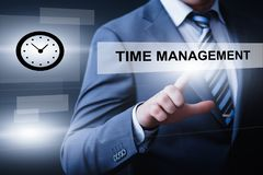 Czasu zarządzania projekta wydajności strategii celów technologii interneta biznesowy pojęcie Zdjęcie Stock
