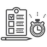 Czasu zarządzania wektoru linii ikona, znak, ilustracja na tle, editable uderzenia ilustracja wektor