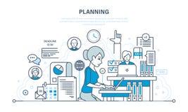 Czasu zarządzanie, planujący biznesowych cele i rezultaty, analiza, statystyki, badanie royalty ilustracja