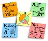 Czasu zarządzania mapy ilustracja na kolorowe notatki Zdjęcie Stock