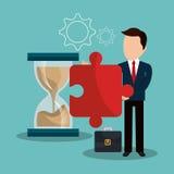 Czasu zarządzania projekt Obrazy Stock