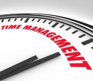 Czasu zarządzania słów Zegarowego zegaru Dyrekcyjne godziny Fotografia Royalty Free