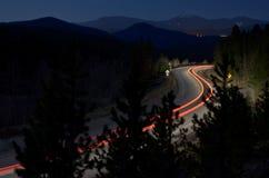 Czasy wystawiający fotografia pojazdu ogonu podwójni światła Obrazy Royalty Free