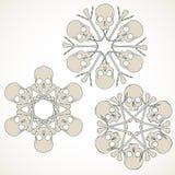 Czaszek i kości byczy snowlakes royalty ilustracja