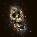 czaszkę płomieni Zdjęcia Stock