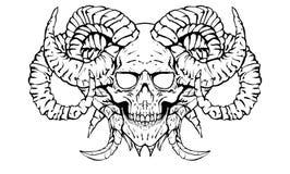 Czaszka demon royalty ilustracja