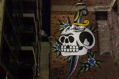 Czaszka graffiti Fotografia Royalty Free