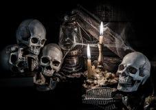Czaszka i Halloween Zdjęcie Stock