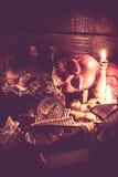 Czaszka i Halloween Obraz Stock