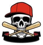Czaszka kąsek kij bejsbolowy ilustracji