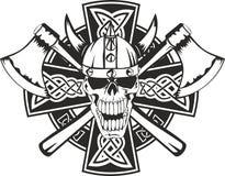 czaszka krzyża czaszka royalty ilustracja