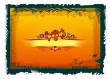 czaszka kwiecista Obraz Royalty Free