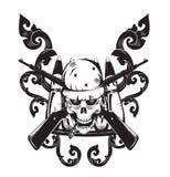 Czaszka logo ilustracja wektor