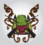 Czaszka logo ilustracji