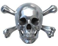 czaszka metalicznej Zdjęcia Royalty Free