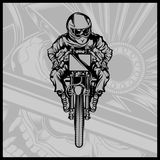 Czaszka motocyklu bieżny wektor ilustracja wektor