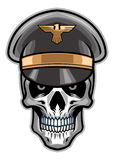 Czaszka żołnierz jest ubranym kapelusz Obrazy Royalty Free