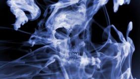 Czaszka w dym Cyfrowej ilustracyjna sztuka Zdjęcia Stock