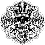 Czaszki korona słoneczna wzrastał Obraz Stock
