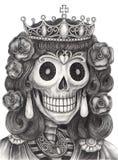 Czaszki królowej dzień nieboszczyk Obraz Royalty Free