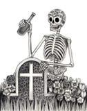 Czaszki sztuki dzień nieboszczyk Obraz Royalty Free