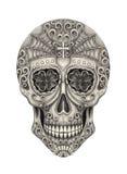 Czaszki sztuki głowy dzień nieboszczyk Obrazy Royalty Free