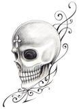 Czaszki sztuki przecinający tatuaż Obraz Royalty Free
