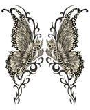 Czaszki sztuki surrealistyczny tatuaż Zdjęcie Royalty Free