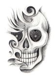 Czaszki sztuki tatuaż Obrazy Royalty Free