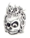 Czaszki sztuki tatuaż Zdjęcie Royalty Free
