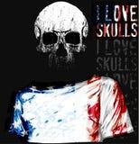 Czaszki T koszulowy Graficzny projekt ilustracja wektor