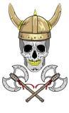 Czaszki Viking hełm z rogami Fotografia Stock