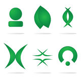 części abstrakcyjne logo Zdjęcia Royalty Free
