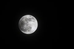 Częściowy Księżycowy zaćmienie na 25 2013 przy 21:53 Kwietniu: 42, Bahrajn Obraz Royalty Free
