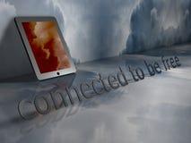 Łączący Bezpłatny być pastylka komputer osobisty - Fotografia Stock