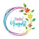 Cześć august Obraz Stock