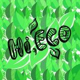 Cześć eco ilustracji