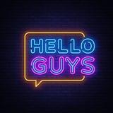 Cze?? faceta teksta Neonowy wektor Blogging neonowy znak, projekta szablon, nowo?ytny trendu projekt, nocy signboard, noc jaskraw royalty ilustracja