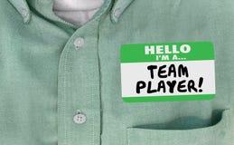 Cześć Im gracza drużynowego Imię etykietka Kolaboruje pracę Wpólnie royalty ilustracja