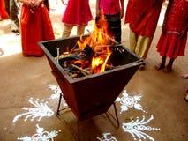 cześć indianką ogień iii fotografia stock