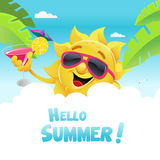 Cześć lato ilustracji