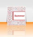 Cześć lato plakat Lata tło royalty ilustracja