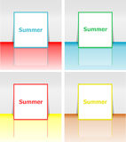 Cześć lato plakat Lata tło Wykonuje plakat, rama Szczęśliwi wakacje karta, szczęśliwa urlopowa karta Cieszy się twój lato ilustracji