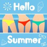 Cześć lato również zwrócić corel ilustracji wektora ilustracji