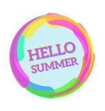 Cześć lato, Wektorowa ilustracyjna wiadomość dla twój lato projekta Zdjęcia Stock
