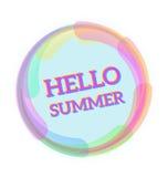 Cześć lato, Wektorowa ilustracyjna wiadomość dla twój lato projekta Zdjęcia Royalty Free
